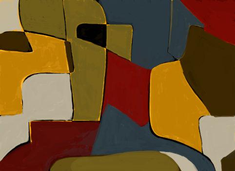 Pristowscheg. Digital Art. Abstract Art. José Arcadio Buendía 100x140 cm | 40x55 in