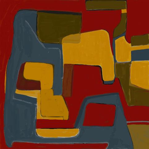 Pristowscheg. Digital Art. Abstract Art. José Arcadio 100x100 cm | 40x40 in