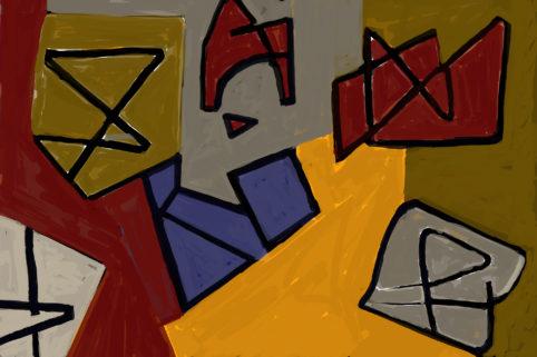 Pristowscheg. Digital Art. Abstract Art. La peste del insomnio 100x150 cm | 40x60  in
