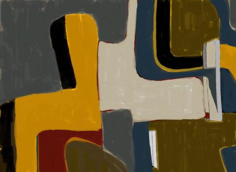 Pristowscheg. Digital Art. Abstract Art. La soledad 100x140 cm | 40x55 in
