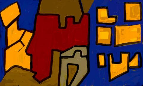 Pristowscheg. Digital Art. Abstract Art. Mauricio Babilonia, publicamente repudiado como ladrón de gallinas 100x167 cm | 40x66 in