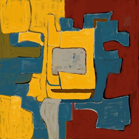 Pristowscheg. Digital Art. Abstract Art. Melquíades 100x100 cm | 40x40 in