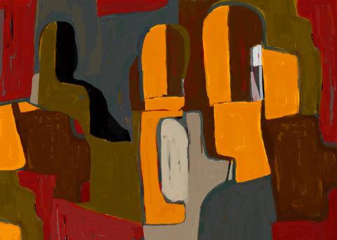 Pristowscheg. Digital Art. Abstract Art. Pilar Ternera, Arcadio y Aureliano José 100x140 cm | 40x56 in