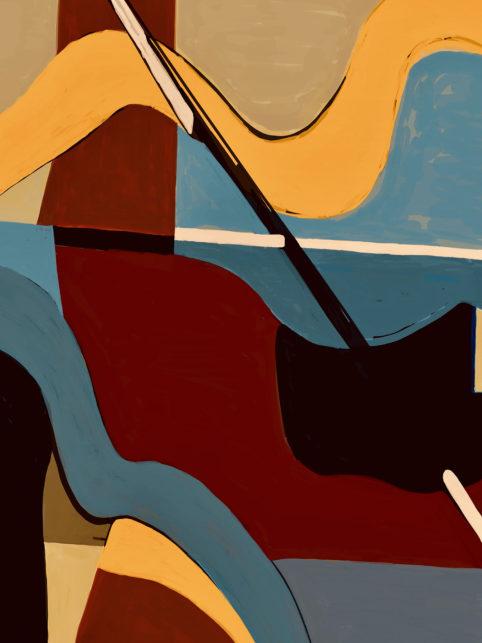 Pristowscheg. Digital Art. Abstract Art. Prudencio Aguilar 100x75 cm | 40x30  in