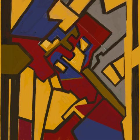 Pristowscheg. Digital Art. Abstract Art. Aureliano Babilonia 100x100 cm | 40x40 in