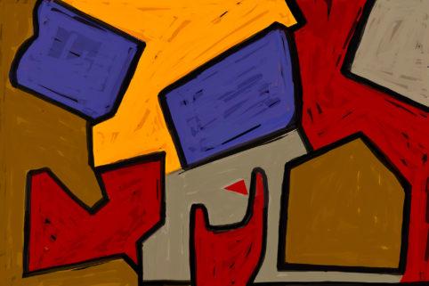 Pristowscheg. Digital Art. Abstract Art. Las cosas carecían de nombre 100x150 cm | 40x60 in