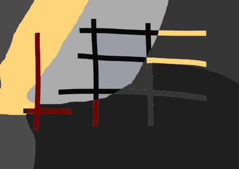 Pristowscheg. Digital Art. Abstract Art. COMPOSICIÓN RETICULAR #2 90x130 cm | 36x51 in