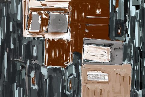 Pristowscheg. Digital Art. Abstract Art. DECOMPOSICIÓN #1 75x115 cm | 30x45 in