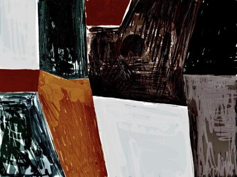 Pristowscheg. Digital Art. Abstract Art. DECOMPOSICIÓN #2 75x100 cm | 30x40 in