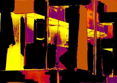 Pristowscheg. Digital Art. Abstract Art. DÍNAMO 75x105  cm | 30x42 in