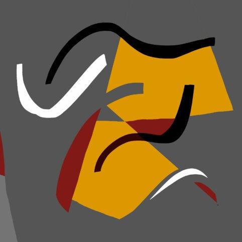 Pristowscheg. Digital Art. Abstract Art. ENLACE 90x90 cm | 36x36 in