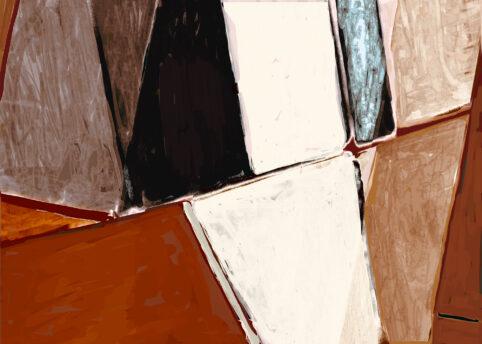 Pristowscheg. Digital Art. Abstract Art. ESPACIOS DIAGONALES 75x105 cm | 30x42 in