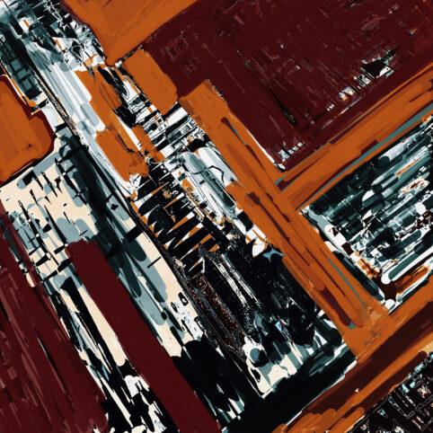 Pristowscheg. Digital Art. Abstract Art. IDEA KAFKIANA 100x100 cm | 40x40 in