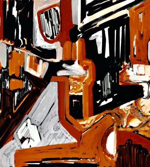 Pristowscheg. Digital Art. Abstract Art. IMPROMPTU 100x75 cm | 40x30 in