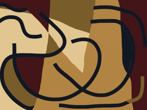Pristowscheg. Digital Art. Abstract Art. INTERSECCIONES CURVILINEAS 90x120 cm | 36x48 in