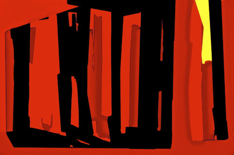 Pristowscheg. Digital Art. Abstract Art. INTRODUCING BLACK 75x115 cm | 30x45 in