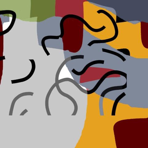 Pristowscheg. Digital Art. Abstract Art. MITSOUKO 100x100 cm | 40x40 in