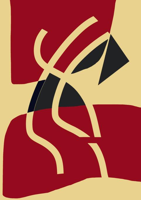 Pristowscheg. Digital Art. Abstract Art. MITSOUKO 107x75 cm | 42,4x30 in
