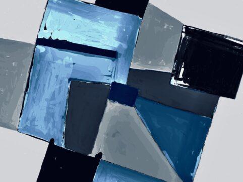 Pristowscheg. Digital Art. Abstract Art. MOTIVO GLACIAR 75x100 cm | 30x40 in