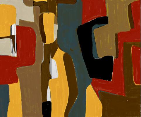 Pristowscheg. Digital Art. Abstract Art. Pietro Crespi con Amaranta 100x120 cm | 40x48 in