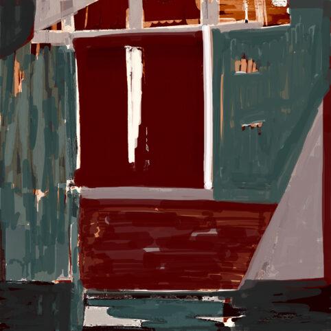 Pristowscheg. Digital Art. Abstract Art. ÉMULA 90x90  cm | 36x36 in