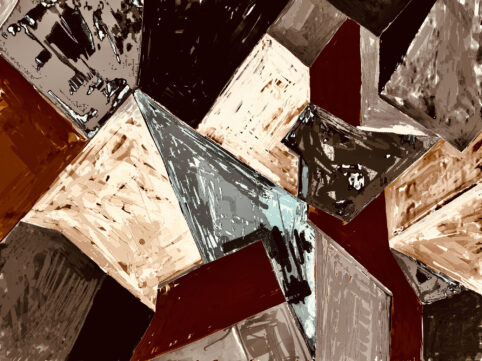 Pristowscheg. Digital Art. Abstract Art. ESQUIRLAS CÚBICAS 30x40 cm | 75x100 in
