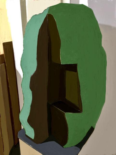 Pristowscheg. Digital Art. Abstract Art. IDEA|VERDE 100x75 cm | 40x30 in