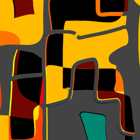 Pristowscheg. Digital Art. Abstract Art. MENOSUNO 90x90 cm | 36x36 in