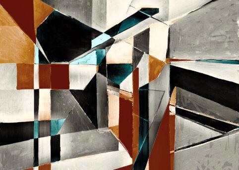 Pristowscheg. Digital Art. Abstract Art. Volumen arquitectónico 75x105 cm | 30x42 in