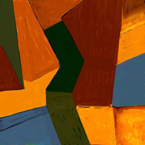 Pristowscheg. Digital Art. Abstract Art. MUSA 100x100 cm | 40x40 in
